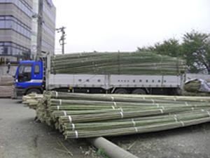 上質な国産の竹材をお客様へ提供します。