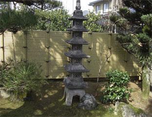お隣との境界に こだわり竹みす垣6型