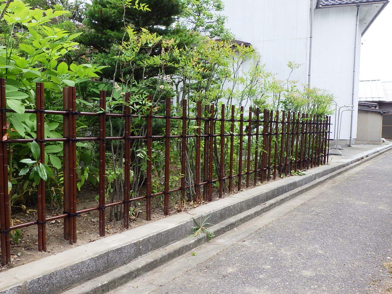 エコすす竹四つ目垣