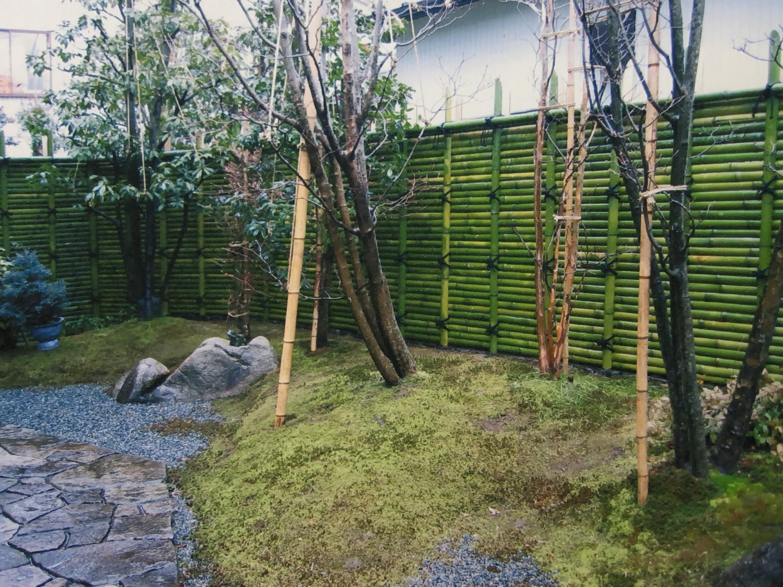 青竹の桂垣。