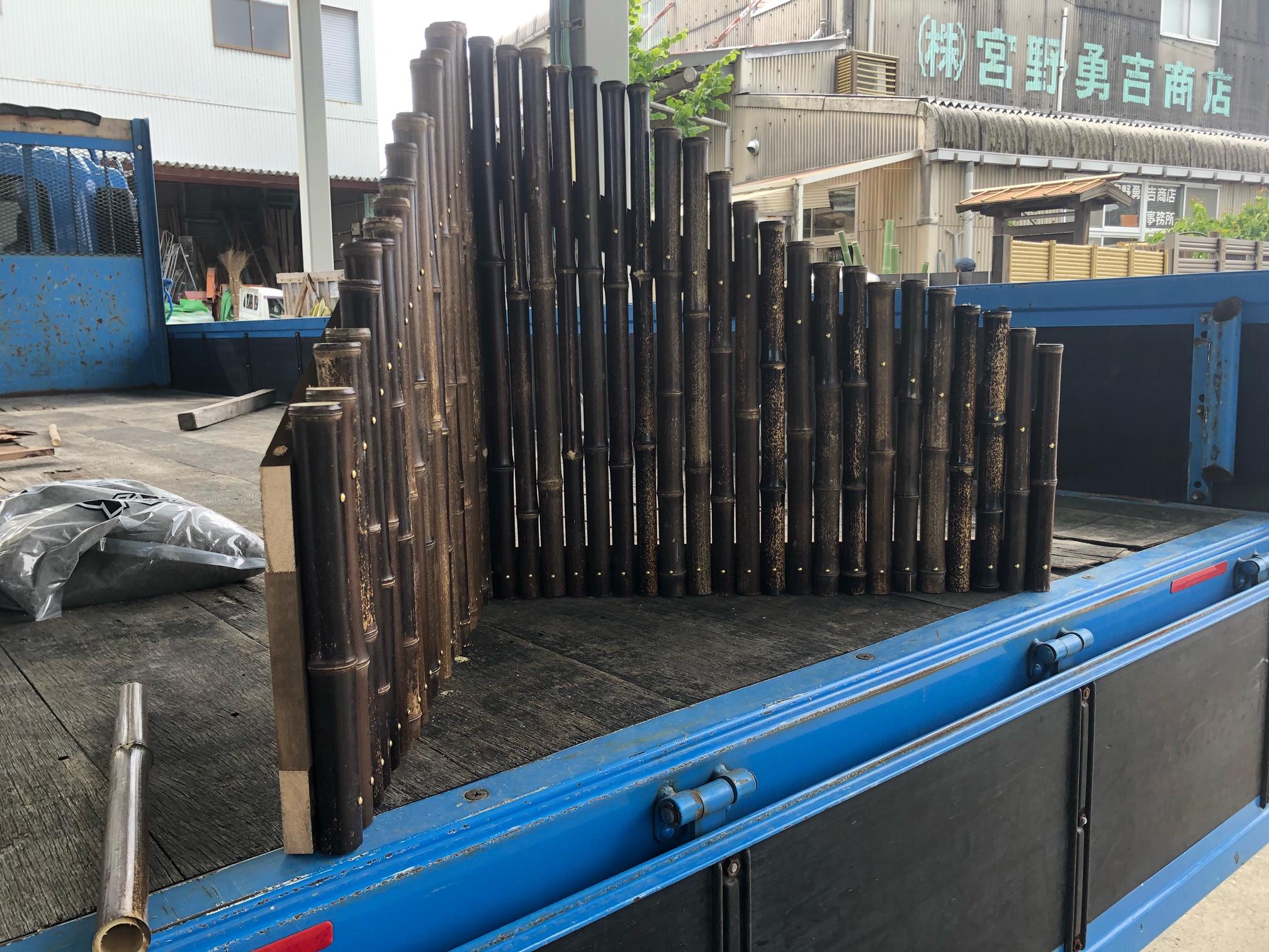 竹製(黒竹)の衝立